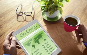 Go Green Environment Eco Global Technology Concept